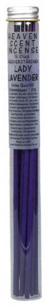Räucherstäbchen in Glasröhrchen - Lady Lavendel, 15 Stück