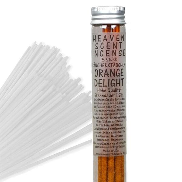 Räucherstäbchen in Glasröhrchen - Orange Delight, 15 Stück