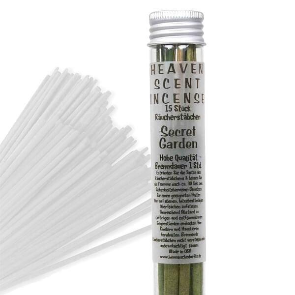 Räucherstäbchen in Glasröhrchen - Secret Garden, 15 Stück