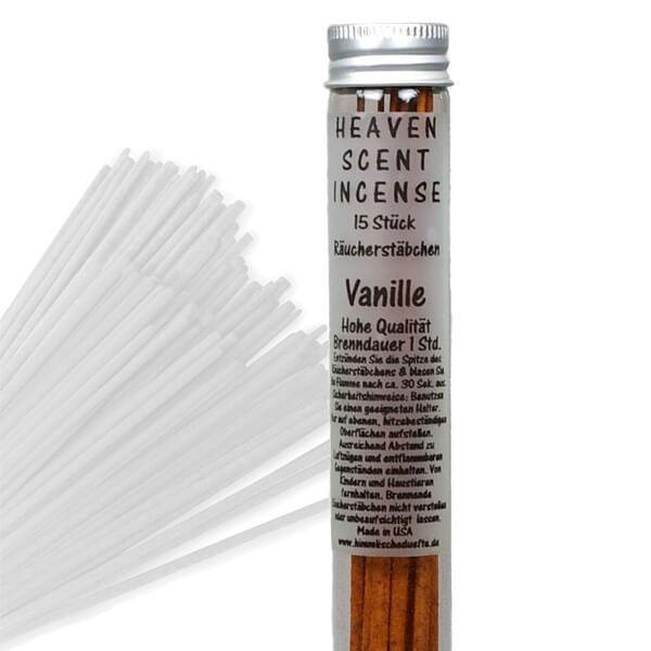Räucherstäbchen in Glasröhrchen - Vanille, 15 Stück