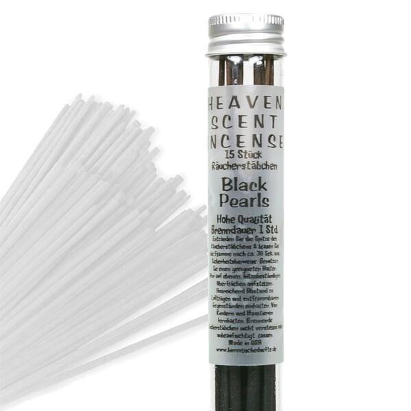 Räucherstäbchen in Glasröhrchen - Black Pearl, 15 Stück