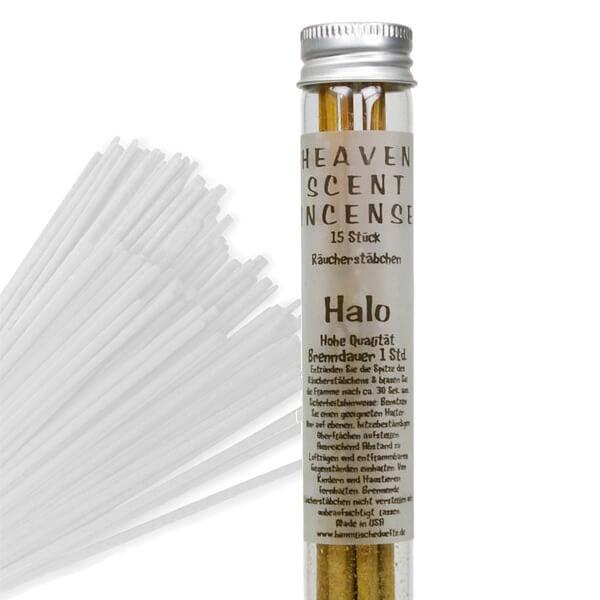 Räucherstäbchen in Glasröhrchen - Halo, 15 Stück