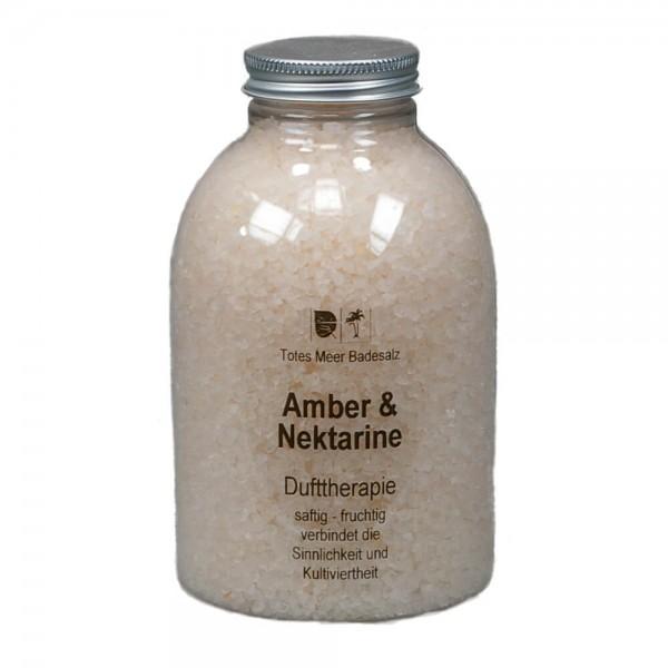 Badesalz Dufttherapie - Amber & Nektarine (630 g)
