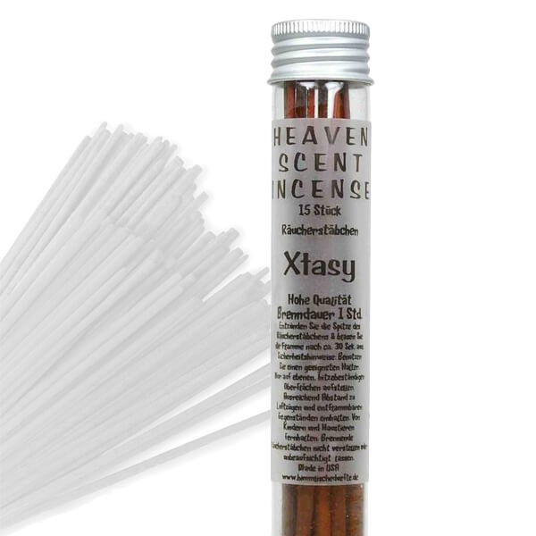 Räucherstäbchen in Glasröhrchen - Xtasy, 15 Stück
