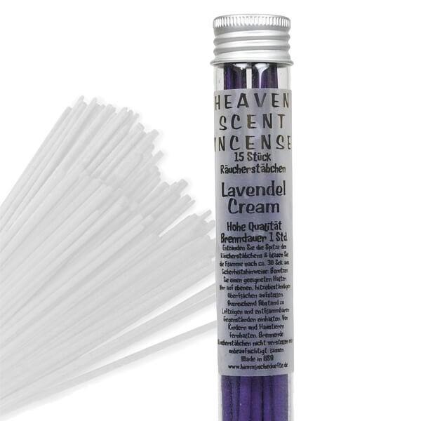 """Räucherstäbchen in Glasröhrchen - Lavendel Cream """"Mojo"""", 15 Stück"""