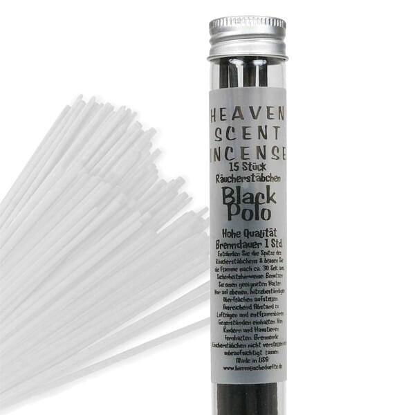 Räucherstäbchen in Glasröhrchen - Black Polo, 15 Stück