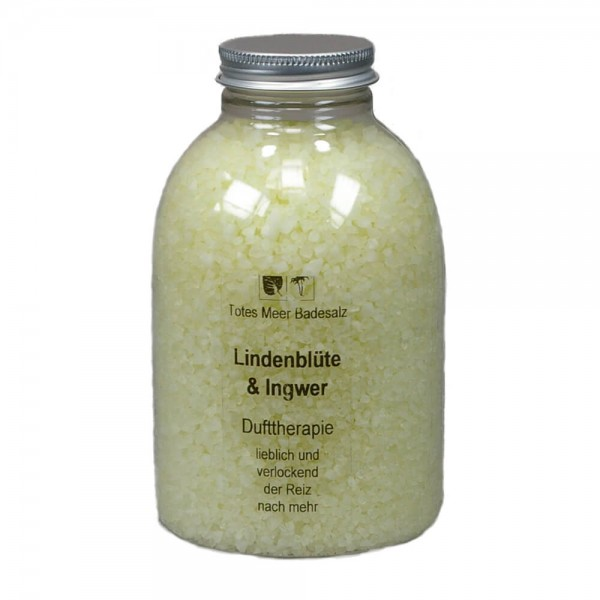 Badesalz Dufttherapie - Lindenblüten & Ingwer (630 g)